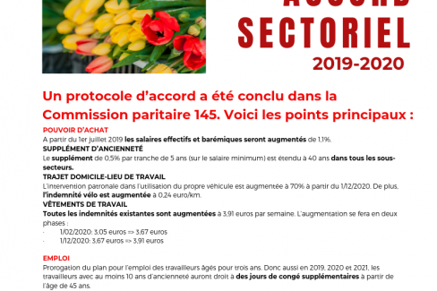 Accord sectoriel agriculture et horticulture