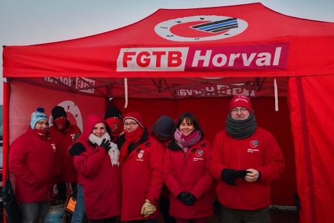 Actie ABVV Horval tegen Vandemoortele - Gellingen