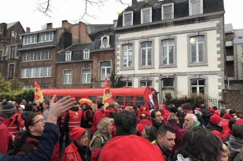 Manifestation contre la réforme APE - Namur