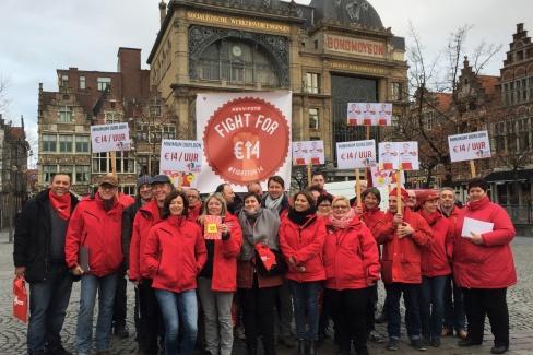 Actie Fight For 14 - januari