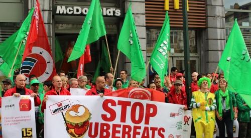 Action contre la livraison des hamburgers McDo par UberEats