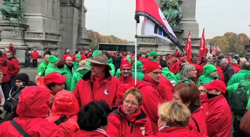 Manifestation pour une Europe sociale à Bruxelles