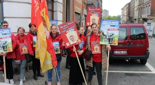 Manifestation du Non-marchand à Namur