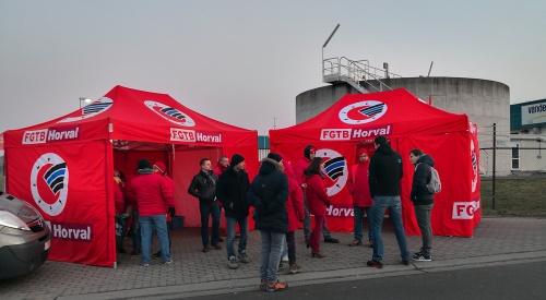 Action FGTB Horval contre Vandemoortele - Ghislenghien